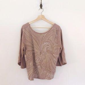 Embellished Lavender Sweatshirt